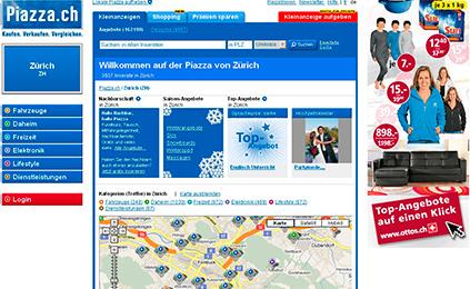 piazza.ch übersichtlicher, lokaler und funktionaler A