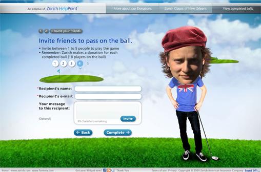 Ein Golfball geht auf Reisen