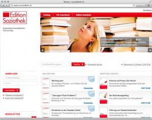 Screenshot der Magento-Lösung soziothek.ch - 1