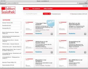 Screenshot der Magento-Lösung soziothek.ch - 3