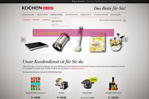 Onlineshop Software Magento im Einsatz - Beispiel kochen-shop.ch Onlineshop