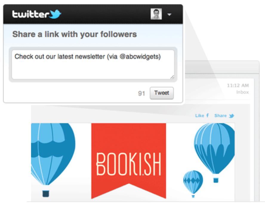 Social Sharing mit Campaign Monitor