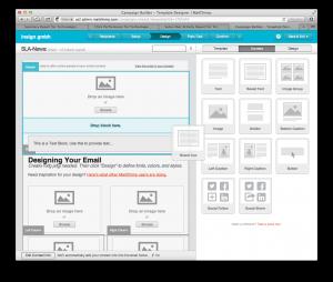 MailChimp - Drag-and-drop-Editor zur schnellen Erstellung eines Newsletters