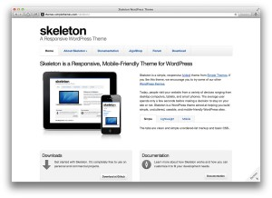 Skeleton WordPress Theme, Startseite