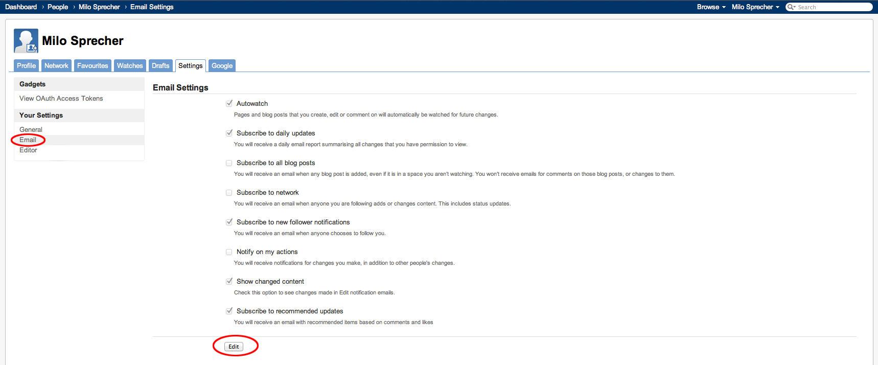 Recommended Updates-Einstellungen, Schritt 2/3