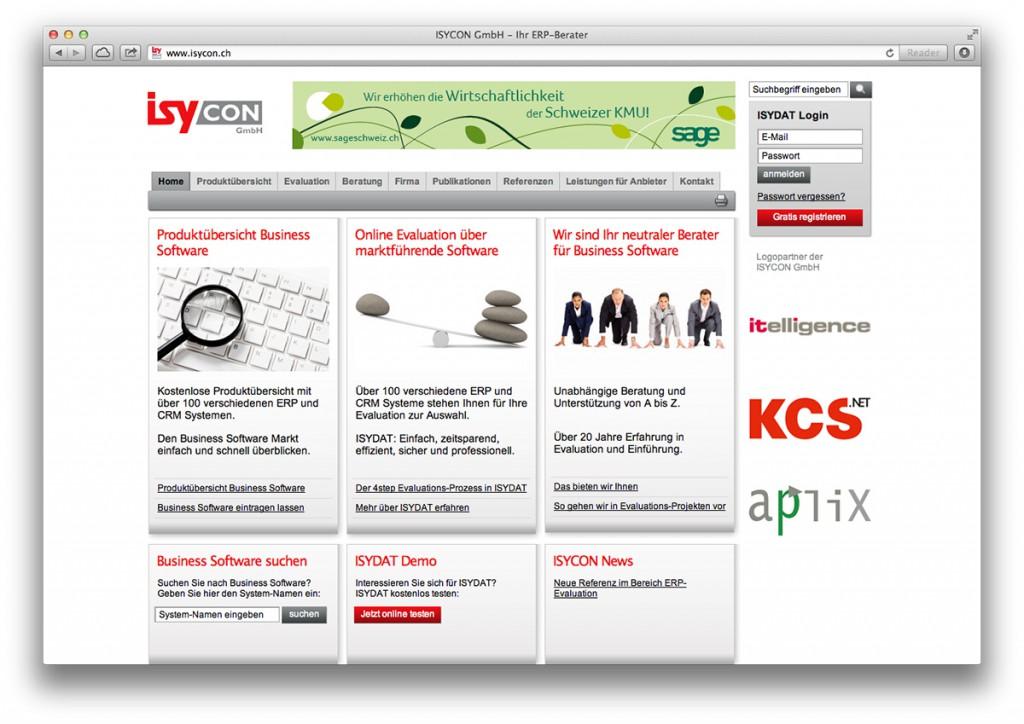 Startseite von isycon.ch