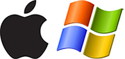 Mac- und Windows-Logo