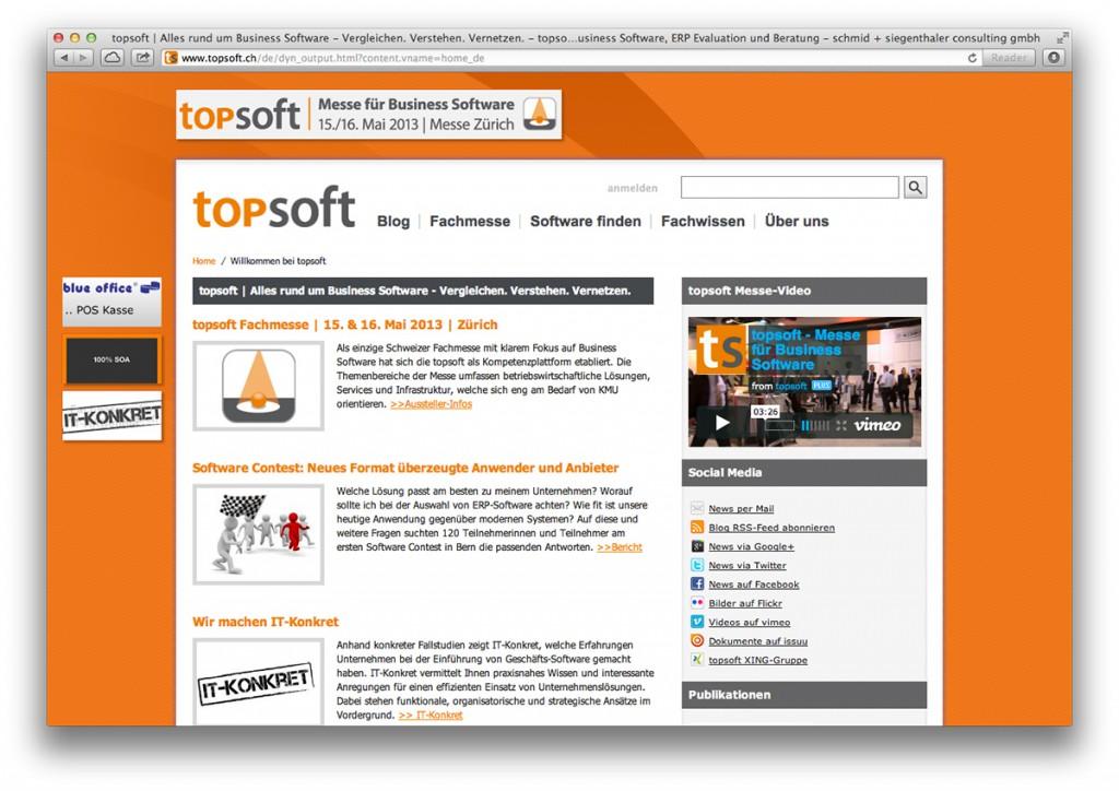 Startseite von topsoft.ch