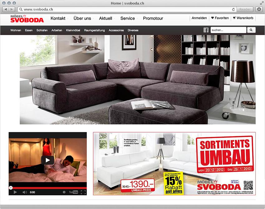 Onlineshop Für Möbel Svoboda Magento E Commerce Lösung Insign Gmbh