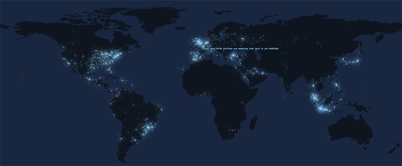 Tweets worldwide in realtime
