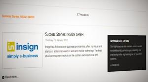 insign mention auf der telehouse-Website