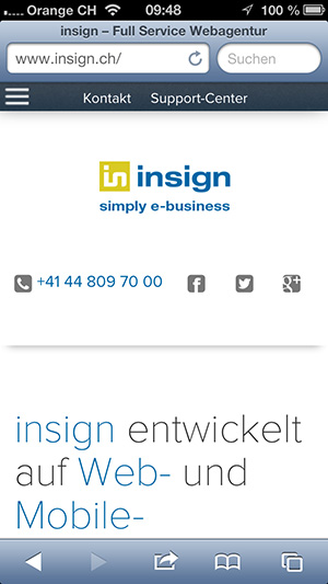 new insign mobile navigation, 1