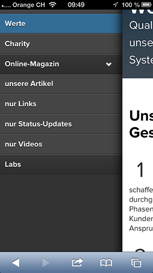 new insign mobile navigation, 6