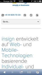 alte insign-Navigation auf einem Smartphone, 1