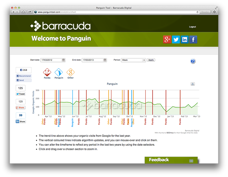 Screenshot des Barracuda Panguin Tools