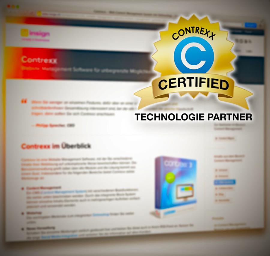 insign ist zertifizierter Contrexx-Technologie-Partner