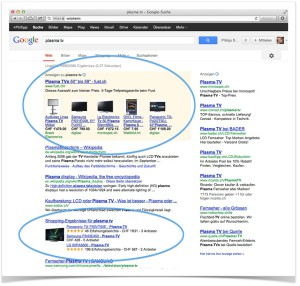 Google Shopping-Resultate