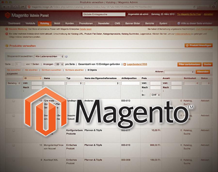 Magento - Vergleich der Editionen
