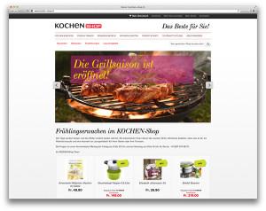 kochen-shop.ch, der Magento-Shop für die AZ Fachverlage AG