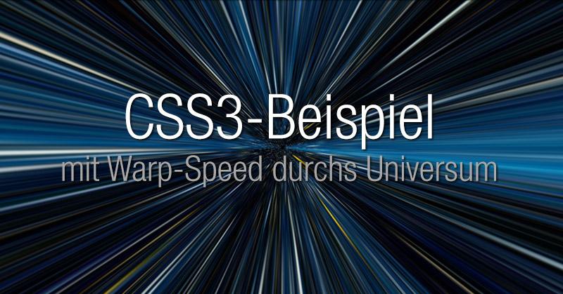 CSS3-Universum: Code-beispiel von CodePen