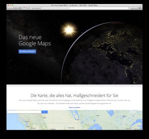 Eine Einladung für das neue Google Maps anfordern