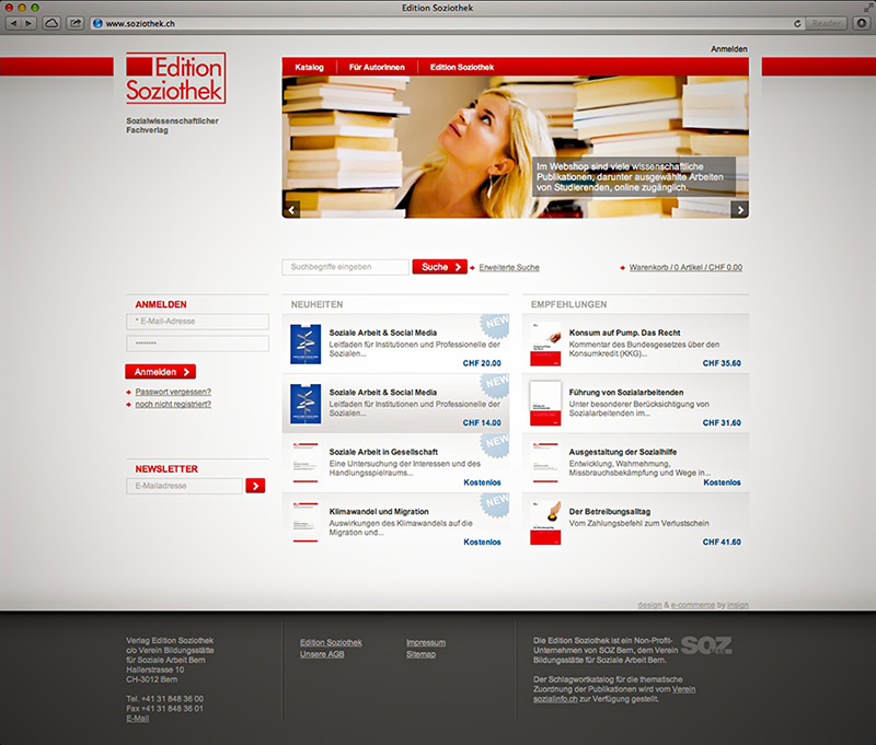 Screenshot: Edition Soziothek Magento-Shop