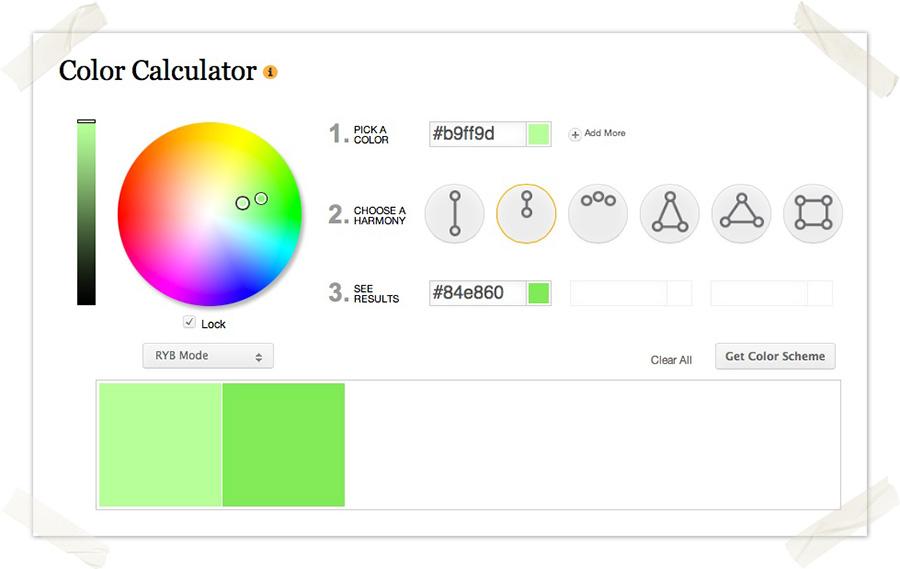 Color Wheel - Werkzeug für die Auswahl passender Farbkombinationen