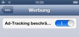 Ad Tracking ID in iOS beschränken