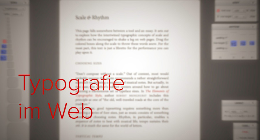 Typografie im Web - spielerisch ausprobieren