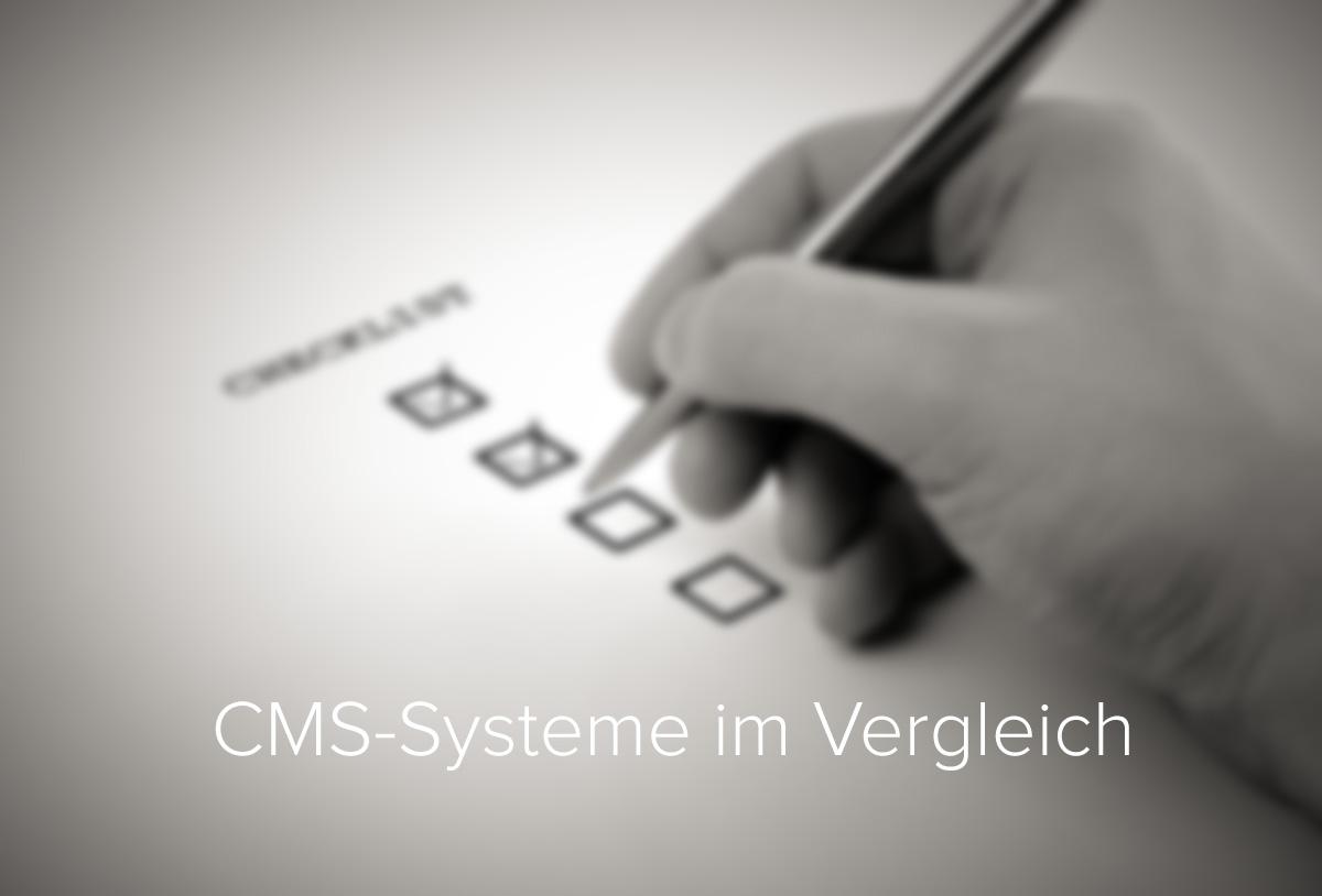 CMS-Systeme im Vergleich