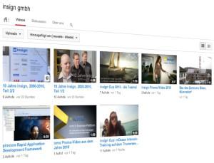 Blick auf unseren YouTube-Channel insignTV