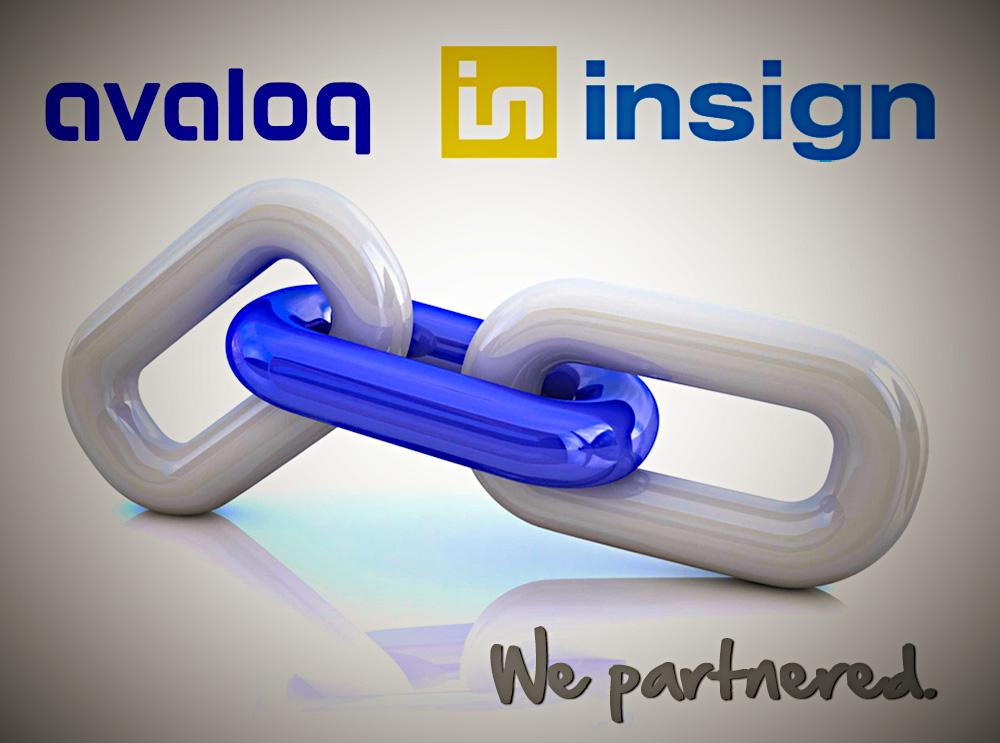 Avaloq und insign - starke Partner für solide E-Banking-Lösungen