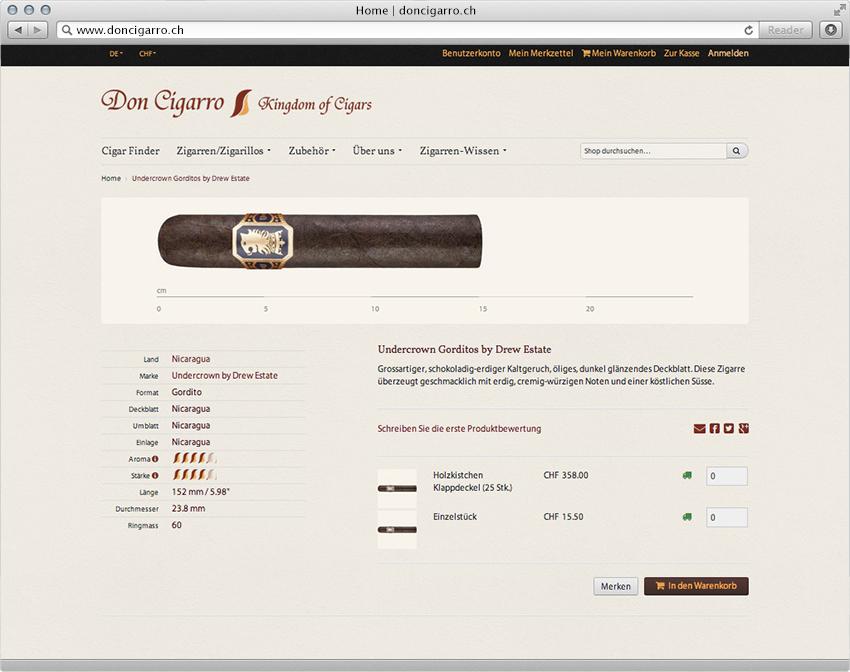 einen humidor oder zigarren online einkaufen don cigarro 2014 insign. Black Bedroom Furniture Sets. Home Design Ideas