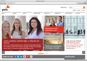 insign hat die Homepage von pwc.ch (PricewaterhouseCoopers) neu lanciert und mit WordPress gebaut