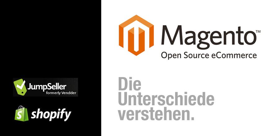 Magento lässt sich nicht mit Shopify und JumpSeller vergleichen