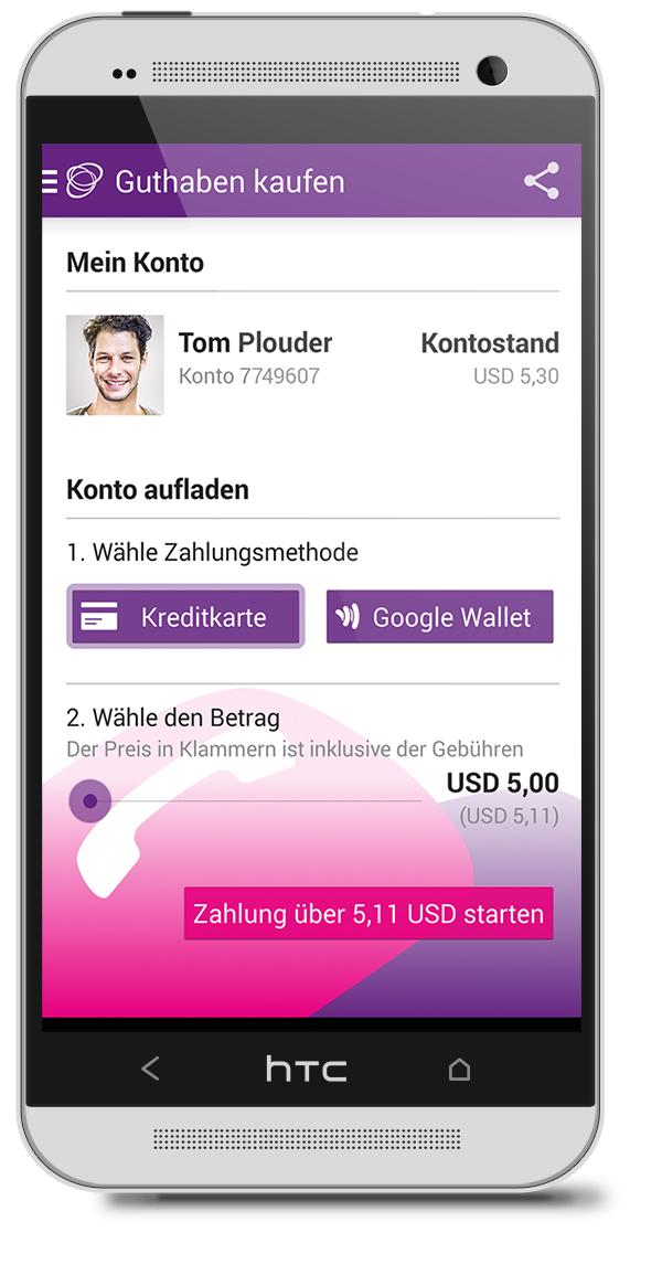 Android Plouder App - kostengünstig zu Top-Qualität ins Ausland telefonieren