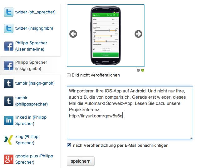 mit dem Social Media Launcher effizient in Social Networks publizieren