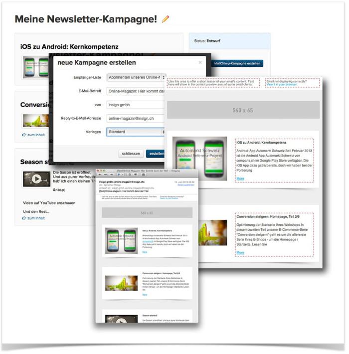 einfache MailChimp-Newsletter-Integration im Social Media Launcher