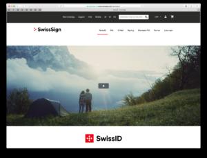 Landing Page für die neue SwissID, made by insign
