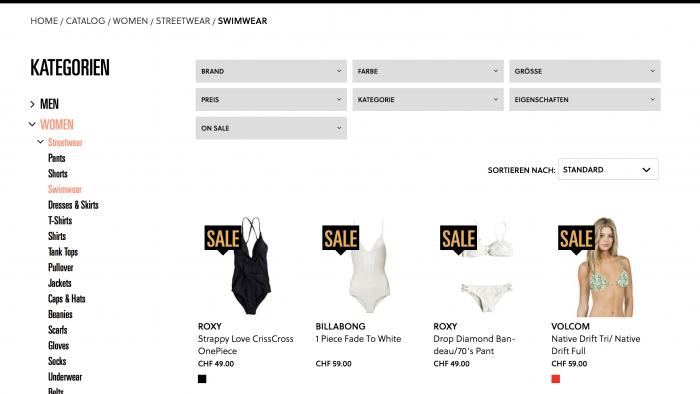 doodah.ch - B2C-Onlineshop im Fashion-Bereich von insign, basierend auf Magento 2