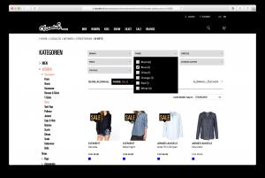 Produkte intelligent filtern im doodah-Webshop, built by insign