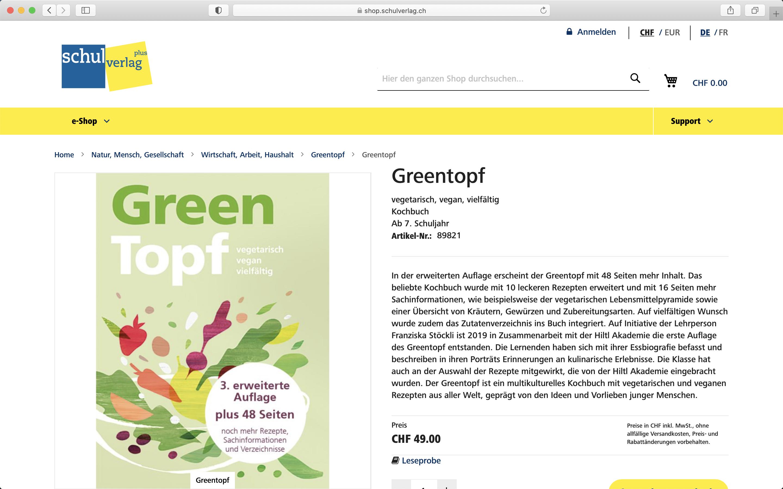 Screenshot Detailpage im Shop von Schulverlag - Magento Shop der insign gmbh