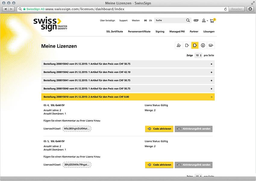 swisssign.com - neue E-Commerce-Lösung