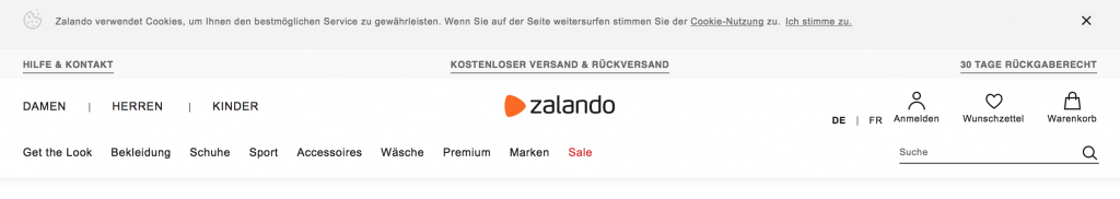 Datenschutz, zalando.ch