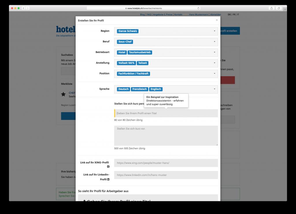 hoteljob-stellenplattform-benutzerprofil-erstellen